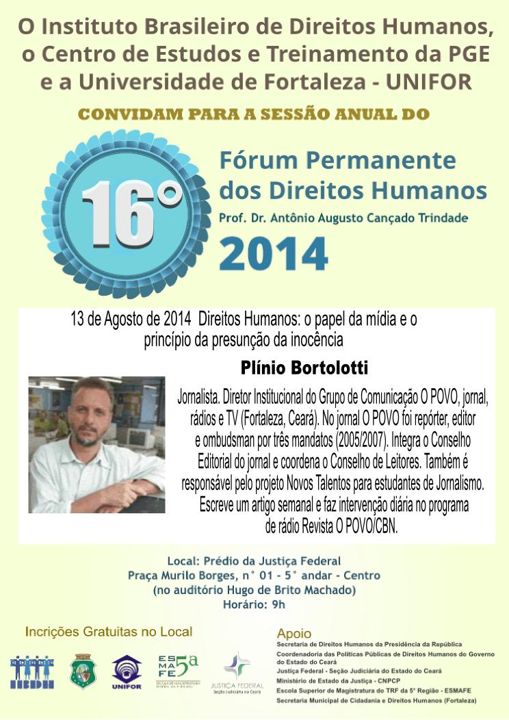 16 Fórum Permanente do Direitos Humanos