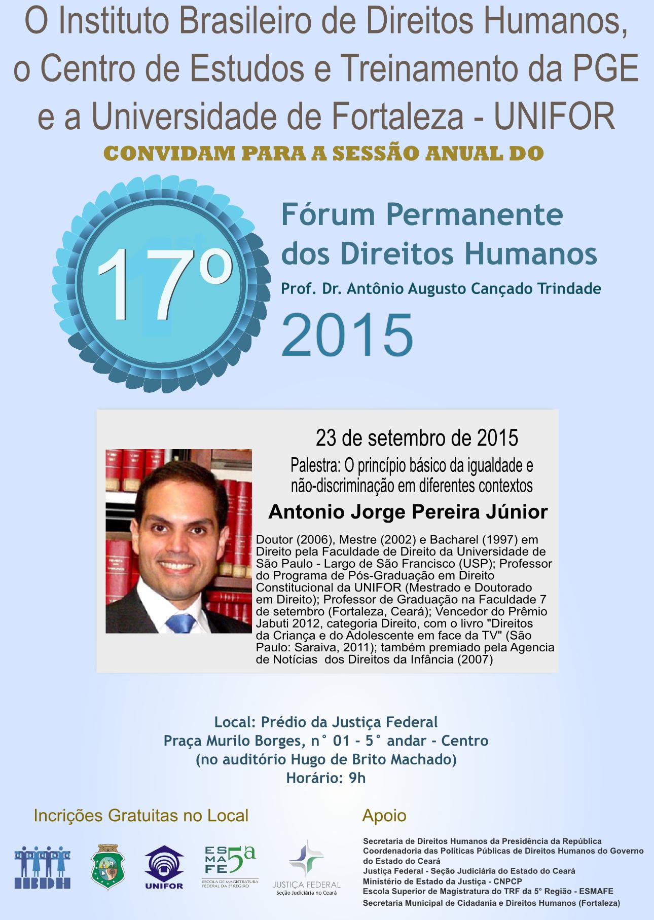 17 Fórum Permanente dos Direitos Humanos (23 de setembro de 2015)