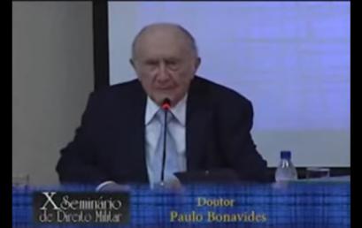 """Palestra do professor Paulo Bonavides """"As cinco gerações dos direitos fundamentais"""" pode ser vista online."""