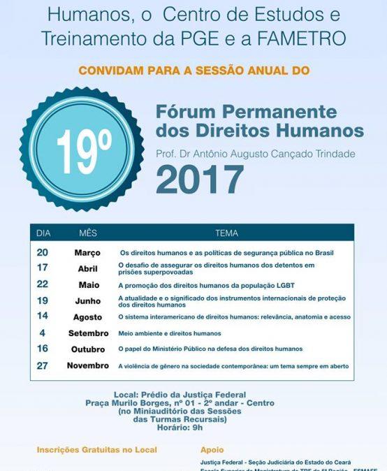 19 Fórum Permanente dos Direitos Humanos (2017)