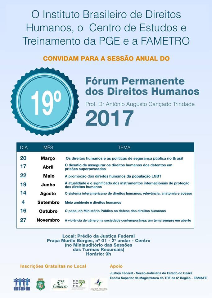 IBDH convida: Fórum Permanente de DH