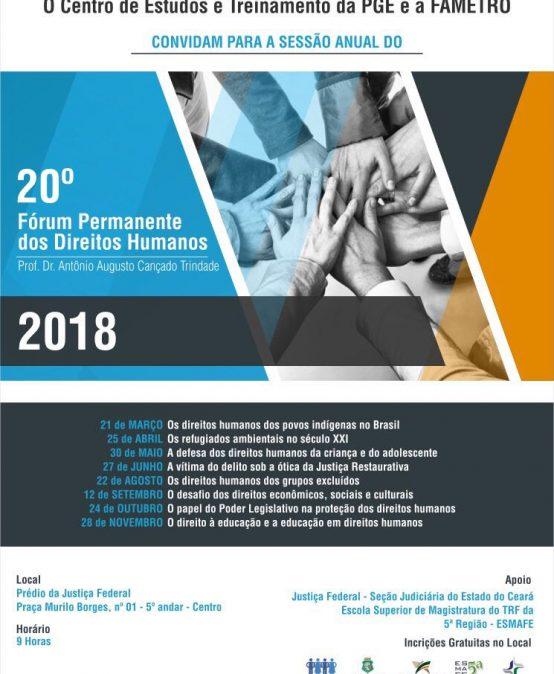 20 Fórum Permanente dos Direitos Humanos (2018)