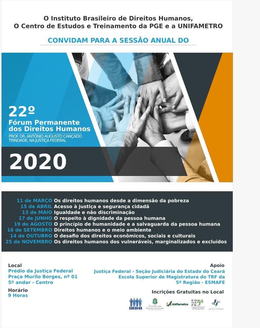 22 Fórum Permanente dos Direitos Humanos (2020)